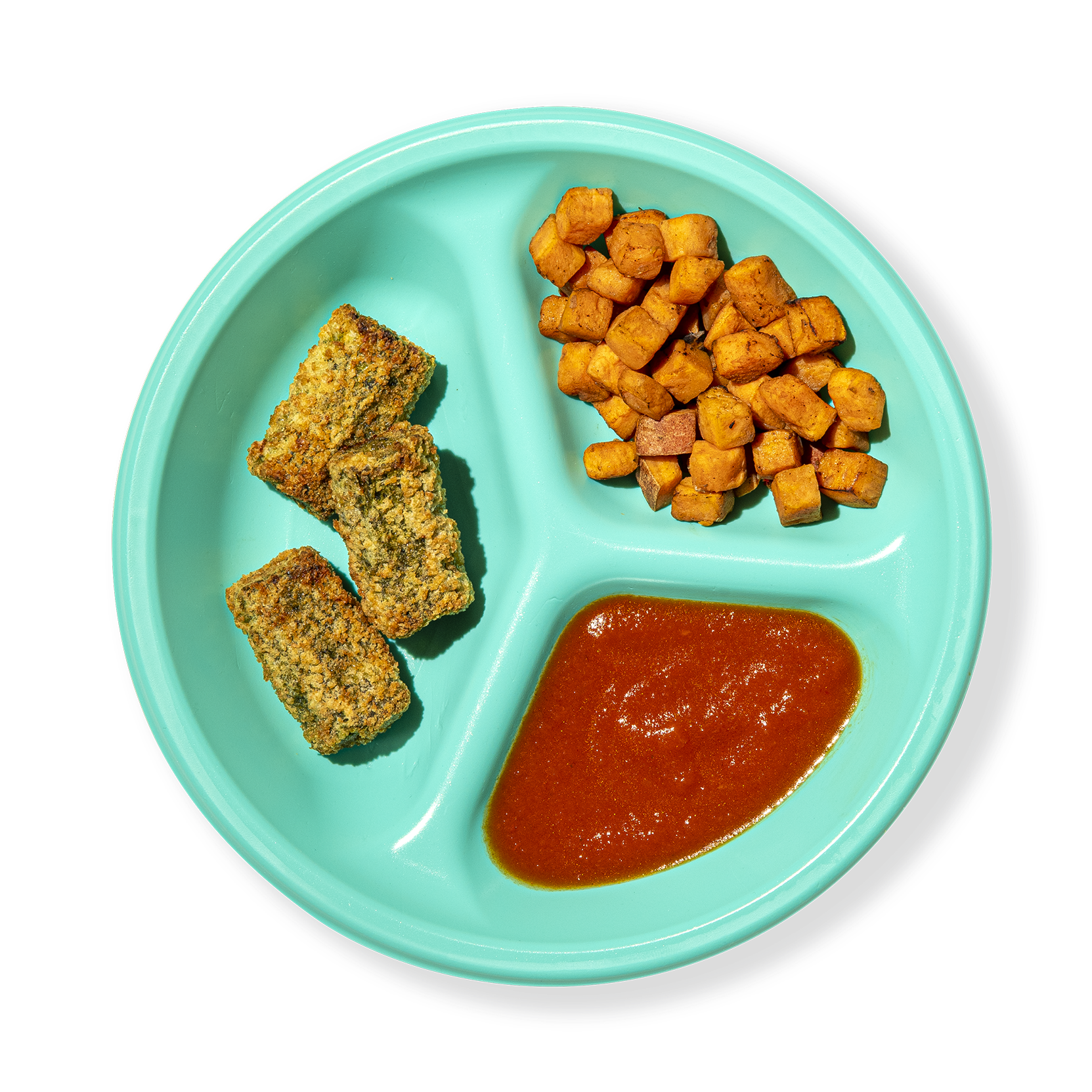 Plate of Spinach Chickpea Bites