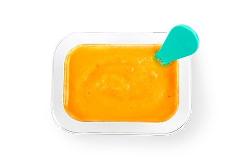 Top view of Limited Edition Pumpkin Spice babyblend container.
