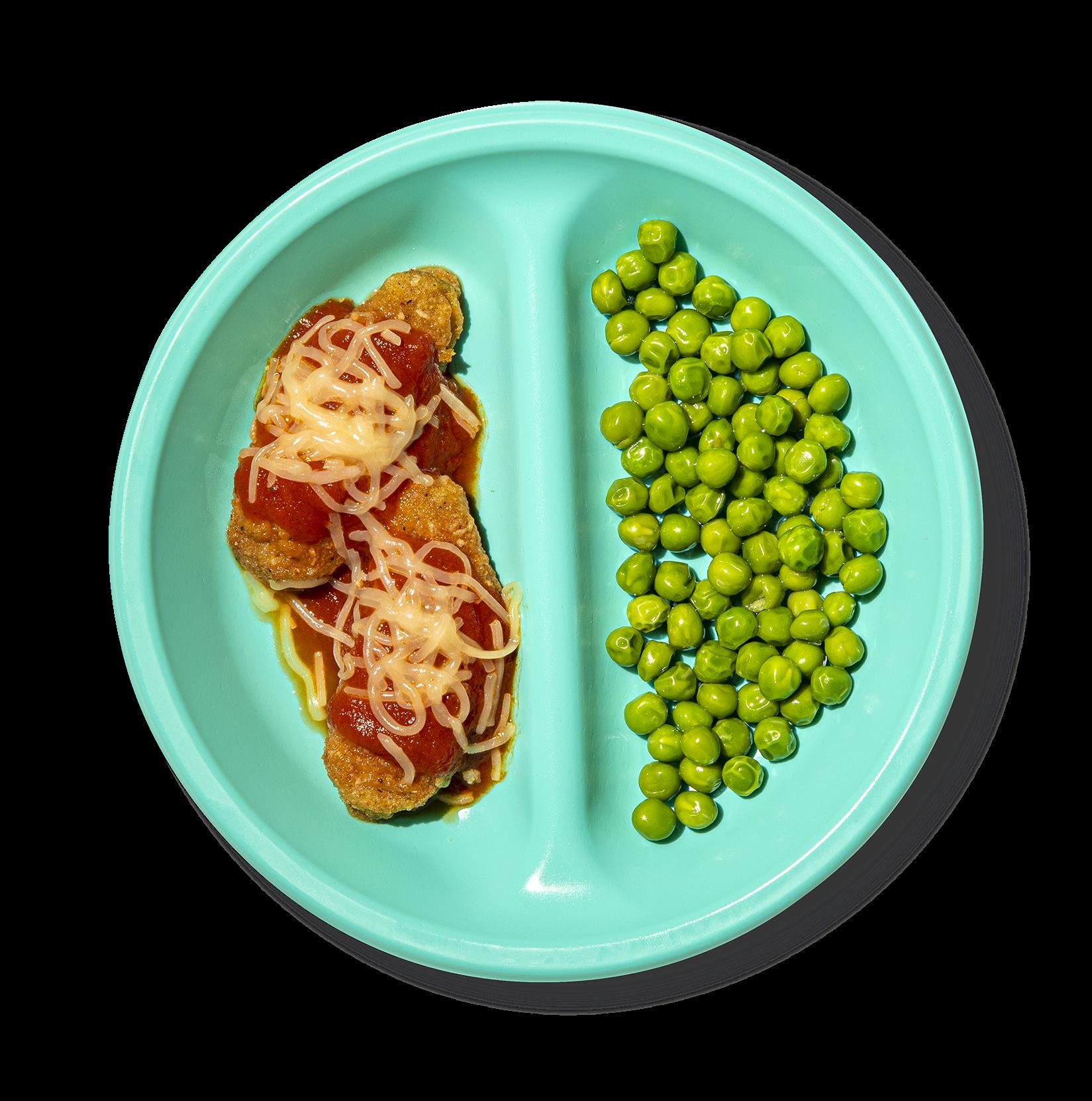 Plate of Veggie Tender Parm