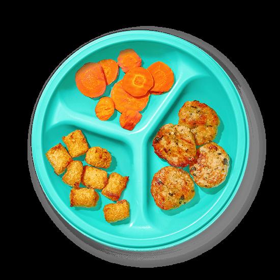 Plate of Turkey Kale Sliders