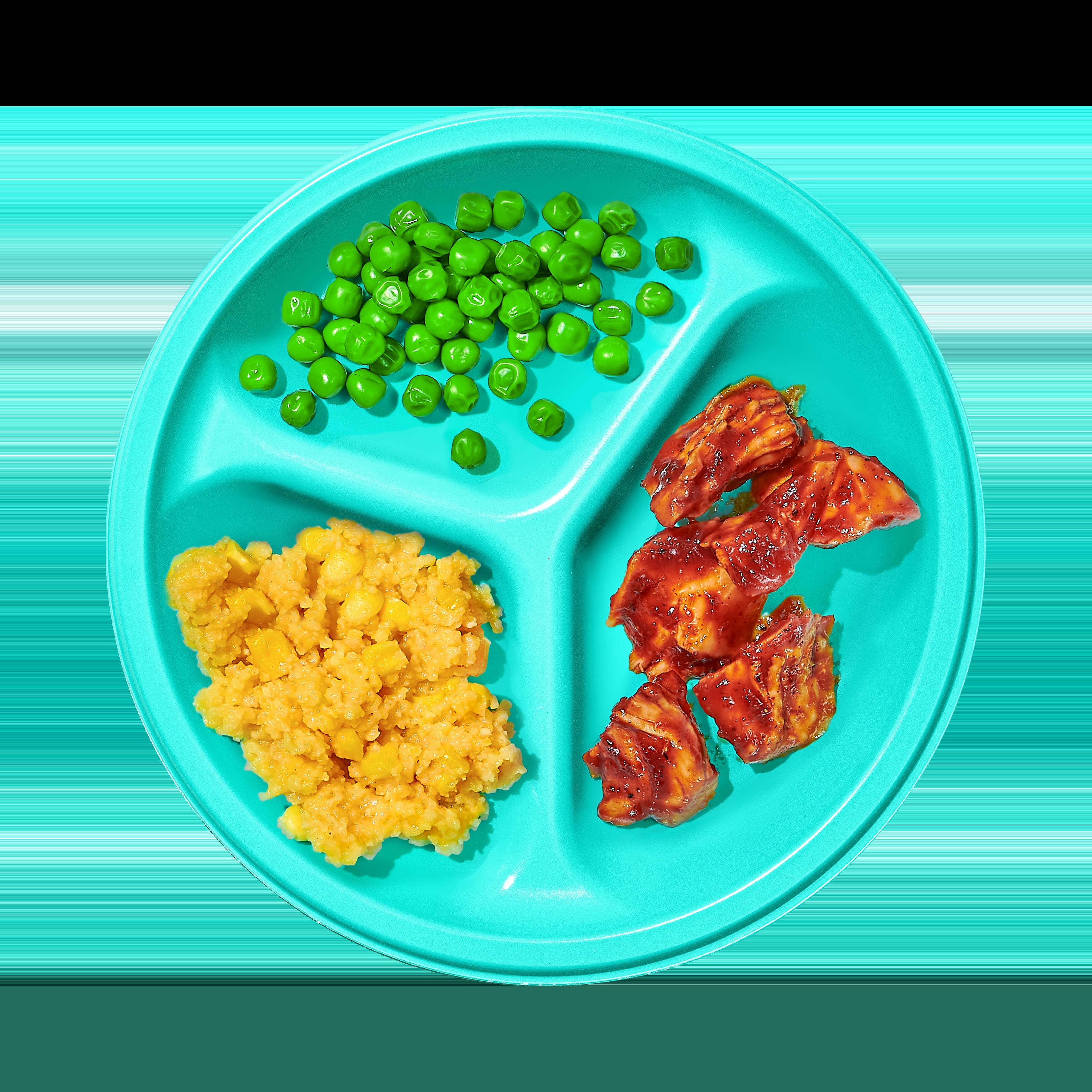 Plate of BBQ Chicken