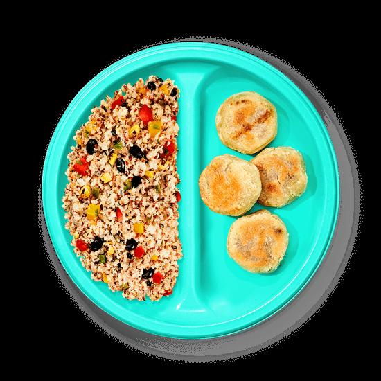 Plate of Cheesy Black Bean Pupusas