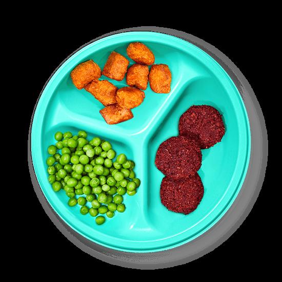 Plate of Beet Superfood Sliders