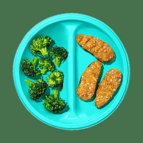 Plate of Veggie Tenders